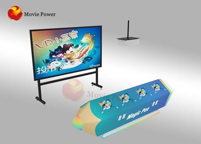 چین FRP + Steel Interactive Games Projector Wall Painting Fish For Kids کارخانه