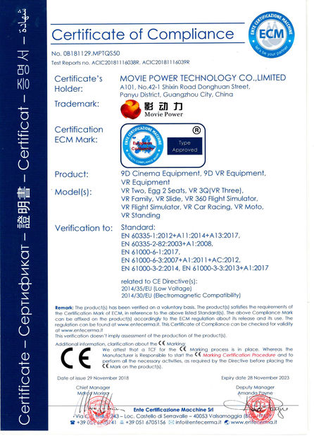 چین Guangzhou Movie Power Electronic Technology Co.,Ltd. گواهینامه ها
